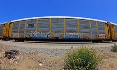 DESTN•HARSH (KNOWLEDGE IS KING_) Tags: railroad art yard train bench graffiti paint wheels tracks railway rails railfan freight benched