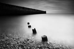 Arc & Rule (Russ Barnes Photography) Tags: longexposure sea blackandwhite beach wall mono coast nikon arc monochromatic line rule shorehambysea d800 leefilters 10stopndfilter russbarnes leebigstopper zeiss21mmzf2