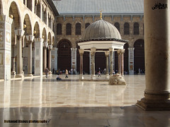 Omayyad Mosque in Damascus (Mohanad Alsous  ) Tags: architecture worship muslim islam prayer culture mosque arabic arab syria historical oriental damascus islamic  mohanad omayyad                     alsous