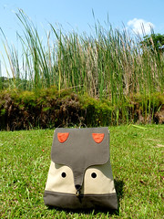 Wanderlust Critter Backpack (The Fantastic Fox) (my little odd forest) Tags: men animal design singapore handmade laptop label fabric fox backpack indie gadget forestprints littleoddforest unisex ipad
