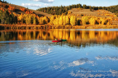 One Perfect Moment (Aspenbreeze) Tags: autumn lake reflections canoe wyoming grandtetons paddling canoing tetonmountains oxbowbend lakereflections gpse aspenbreeze ripplesinlake