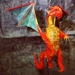 Smaug the Golden (Joseph Wu Origami) Tags: illustration golden design origami dragon dd dungeonsdragons thehobbit smaug tolkein josephwu