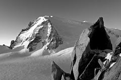 Mont Blanc du Tacul ... 1 (TomFahy.com) Tags: morning travel mountain snow france alps rock landscape climb glacier climbing hut alpine mountaineering chamonix montblanc refuge aiguilledumidi montblancdutacul sonydscr1 montmaudit coldumidi refugedescosmiques