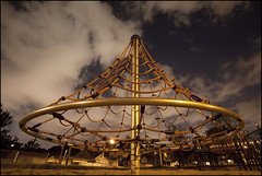 Playground of the future (Nelson Webb) Tags: school night sand cone bluehour ropes whatthe hoboswithnikons crazyplaygroundsnowdays