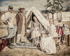 At Sonja's Tent (Zane's Photography) Tags: civilwar reenactment 2012 niksoftware nikond300 northwestcivilwarcouncil silverefexpro2
