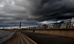 Blackpool Tower (Kevin O'Brian) Tags: uk storm tower beach clouds coast blackpool stormclouds kevinobrian