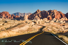 Long and Winding Desert Road (Michael Pancier Photography) Tags: usa southwest valleyoffire desert lasvegas nevada nevadadesert overton americansouthwest valleyoffirestatepark commercialphotography redrockcountry naturephotographer michaelpancierphotography landscapephotographer fineartphotographer michaelapancier wwwmichaelpancierphotographycom
