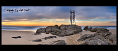 Shark-Tower-Panoramic {Explored} (Kiall Frost) Tags: panorama beach sunrise nikon pano australia panoramic redhead nsw stitched nn5 nodalninja d7000 kiallfrost
