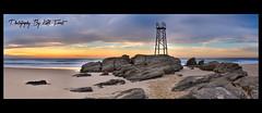 Shark-Tower-Panoramic {Explored} (Kiall Frost) Tags: panorama beach sunrise nikon pano australia panoramic redhead nsw stitched nn5 nodalninja d7000 kiallfrost