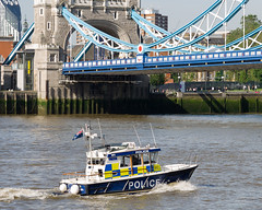 Metropolitan Police launch MP3 - 'Gabriel Franks II' (cybertect) Tags: bridge london towerbridge river boat police mp3 launch riverthames se1 metropolitanpolice londonse1 pottersfields canonfd100mmf28ssc gabrielfranksii panasonicg2
