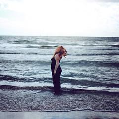 Beacon (Rebecca Bentliff) Tags: ocean sea lake selfportrait water hair waves chaos wind horizon lakeontario beacon texturebybrookeshaden