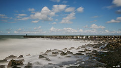 Rising water (long exposure) (BraCom (Bram)) Tags: longexposure sea holland stone clouds canon rocks widescreen nederland thenetherlands noordzee wolken zeeland zee explore le northsea breakers 169 branding westkapelle rotsen stenen breakwaters risingwater breedbeeld langesluitertijd canonef24105mmf4lisusm nd110 golfbrekers opkomendwater 110nd bracom bw110endgrey canoneos5dmkiii