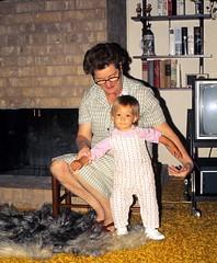 Oklahoma   -   Lawton   -   5112 NW Liberty   -   Jessica & my mother   -   October 1974 (Ladycliff) Tags: oklahoma jessica oma lawton