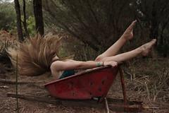 (carlitad) Tags: nature mystery dark hair model legs fantasy flip blonde