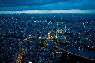 from 450 meters high #1 (Tokyo Skytree)