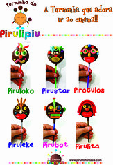 Pirulitos Turminha do Pirulipiu (PFantasy) Tags: chocolate crianas aniversrio pirulitos presentes