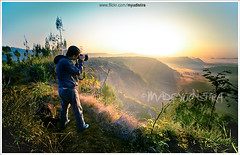 There's Always A Place To Be Explored (Bali Based Freelance Photographer and Photo Stocks) Tags: bali lake silhouette sunrise canon indonesia landscape eos photographer hunting mount batur kintamani landscaper madeyudistira myudistiraphotography