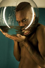 DEAF #2.18 (Norte_it [Dario J Laganà]) Tags: portrait water experimental breath bowl oxygen fishbowl deaf claustrophobia porject taub sordo