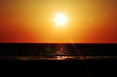 You'll See Me Running On The Sun... (TheJudge310) Tags: ocean california sunset orange usa sun seascape beach water landscape waves unitedstates pacific shore manhattanbeach 2012 nikoncoolpixp500