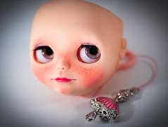Star, WIP (Dart ) Tags: mouth star doll carving blythe freckles custom faceup stellasavannah