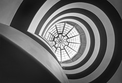 Orbicular (odin's_raven) Tags: new york blackandwhite newyork abstract museum architecture mono design circles skylight rings staircase r round guggenheim hdr circular solomon guggenheimmuseum abstrac solomonrguggenheim