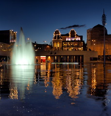 Bradford City Park (Clugg14) Tags: park city reflection water architecture exposure bradford alhambra citypark waterreflection slowshutterspeed slowexposure buildingreflection flickraward