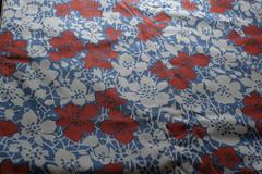 #22 Cotton Red/Blue Floral Print