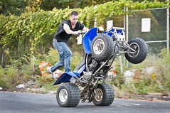 Bowery Bay, Queens (Mike Ratliff Photography) Tags: new york city nyc newyorkcity sports bike bay la extreme bikes banshee racing queens dirt riding bowery motorcycle astoria motor trick burnout motorsports quads stunting stuns gaurdia