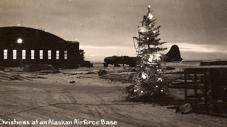 Christmas In Alaska (Homini:)) Tags: Christmas Snow Tree Alaska Plane Found
