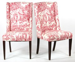 19. Pair of Tole High Back Side Chairs