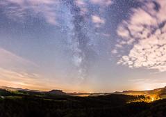 Sleepless summer nights... (derliebewolf) Tags: landschaft milkyway natur panorama stars tech wald nightshot astrophotography astro nature nightsky meteorshower meteors