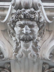 Satyr Gargoyles - The Ansonia Apartment Building 3845 (Brechtbug) Tags: satyr gargoyles the ansonia apartment building now condo upper west side new york city 2109 broadway between 73rd 74th streets built 1899 opened 1904 beaux arts architectural style mansard roof architect paul e m duboy featured 1992 film single white female bridget fonda jennifer jason leigh home pogo cartoonist disney animator walt kelly mobster arnold rothstein athletes jack dempsey babe ruth 8222016 nyc 2016
