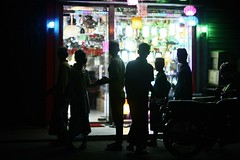The fascination of LIGHT (N A Y E E M) Tags: boys madrasa ramadan night shop light street norahmedroad chittagong bangladesh carwindow availablelight silhouettes