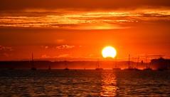 Evening At Sandbanks (Tilney Gardner) Tags: sunset sandbanks poole dorset colours landscape seascape nikon sun