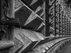 Testosterone Building (keith_shuley) Tags: brutalist architecture building milan milano blackandwhite olympusomdem1