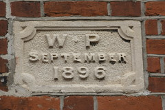 Lettering from Norfolk II (Graphicgirl_) Tags: architecturallettering lettering letteringonbuildings norfolk summer2016 southwold dateonbuilding 1896