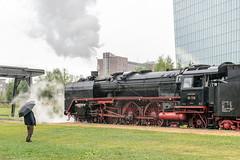 136 (klauseuteneuer) Tags: frankfurt ezb europischezentralbank historischeeisenbahn dampflok