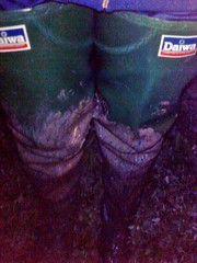 Daiwa in the Dark (essex_mud_explorer) Tags: daiwa green coarsefisher rubber thighboots thighwaders waders rubberboots rubberwaders cuissardes watstiefel gates madeinbritain vintage hunter mud muddy schlamm