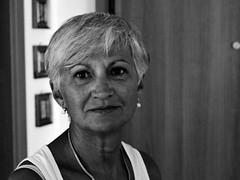MOM (marcobertarelli) Tags: mom bw woman family old gray portrait age shadow light life