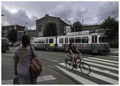 Er staat/rijdt altijd wel iemand in beeld ... (Harry -[ The Travel ]- Marmot) Tags: holland nederland netherlands dutch hollands nl amsterdam mokum stadsarchief stad city urban stedelijk stads allrightsreservedcontactmebyflickrmail museumtram tram streetcar tramm tramvaiul tramvay tramwaj tramwaje tranvia strasenbahn strassenbahn tramways tramvie tranvias trams tramway openbaarvervoer publictransportation transport rail historic railway vrouwen women bike bicyclette bicycle fietsster zebrapad voetgangersoversteek ema httpmuseumtramlijnorg electrischemuseumtramlijnamsterdam