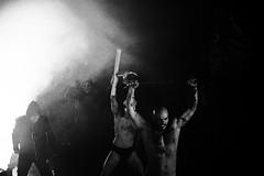 Karen Nikgol's Satyricon (audun.bie) Tags: blackandwhite monochrome theatre theater fog mask eerie axe dark satyricon drama dramatic