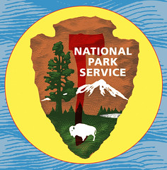 National Park Service Centennial - RHO (Hannah Fox Bird Estelle) Tags: national park service protect wildlands thankful grateful graphic design badge red hatchet outdoors optoutdoors