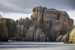 Sylvan (Notkalvin) Tags: sylvanlake winter southdakota needleshighway blackhills custer notkalvin mikekline notkalvinphotography outdoor cold lake ice snow rocks granite