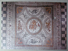 Fishbourne Roman Palace mosaic floor (pefkosmad) Tags: jigsaw puzzle leisure pastime hobby roman mosaic 750pieces fishbourneromanpalace tesserae tiles floor home britain romanbritain flooring missingpiece onepiecemissing