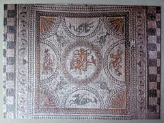 Fishbourne Roman Palace mosaic floor (pefkosmad) Tags: jigsaw puzzle leisure pastime hobby roman mosaic 750pieces fishbourneromanpalace tesserae tiles floor home britain romanbritain flooring missingpiece onepiecemissing
