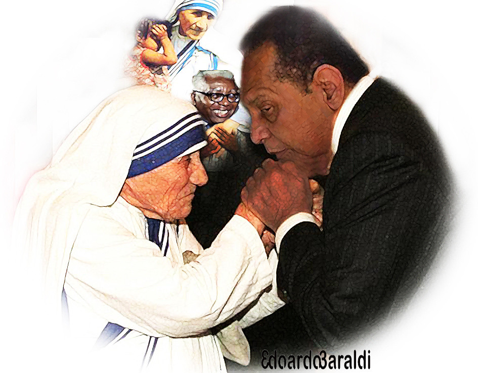Image result for Baby Doc Duvalie and Mother Teresa photo