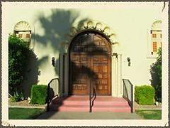 A Unique Door (a100tim) Tags: ansh round73 uniquedoor church litchfieldpark scavenger7 laborday
