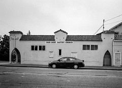 West Oakland (Postcards from San Francisco) Tags: oakland california film analog trix leica church 28mm elmaritm asph
