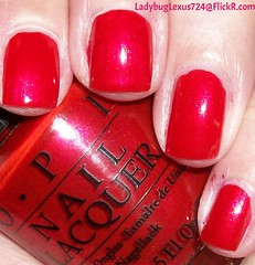OPI Gimme A Lido Kiss (ladybuglexus724) Tags: purple nail polish lacquer pink red holographic opi orly china glaze revlon finger paints