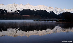 001 (Steve Daggar) Tags: glenorchy newzealand sunrise landscape mountains snowcappedmountains reflections reflection lake queenstown